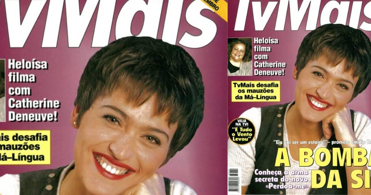 Photo of Fátima Lopes quando foi capa de revista pela primeira vez há 25 anos
