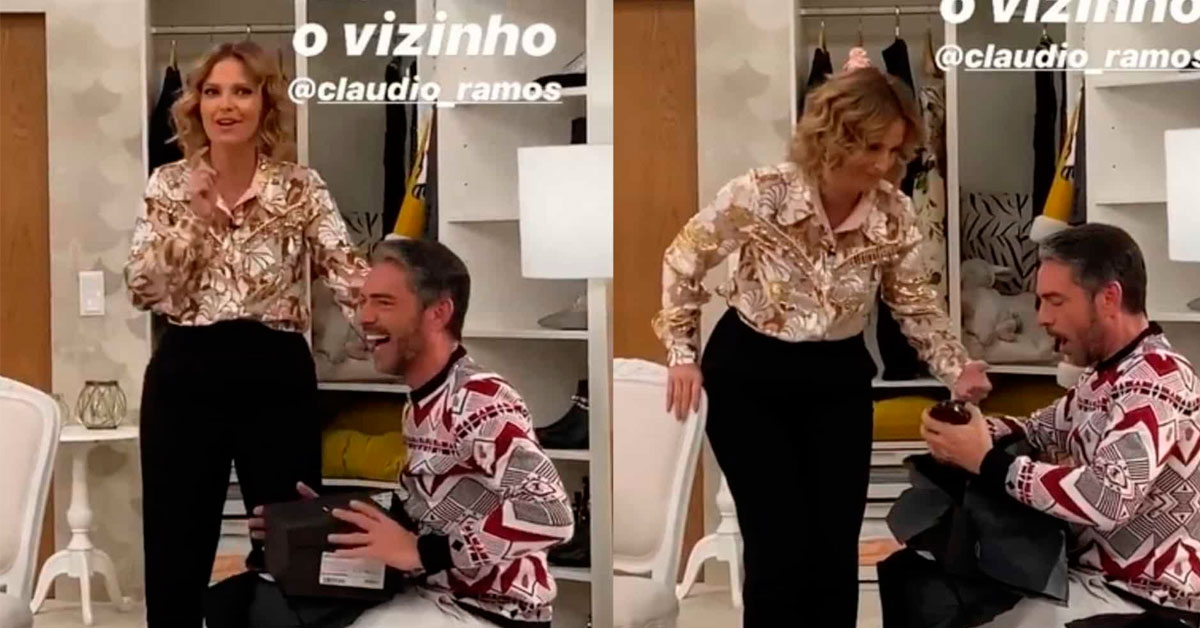 "Photo of Cláudio Ramos recebe prenda de Cristina Ferreira e provoca ""Goucha é para que saibas"""