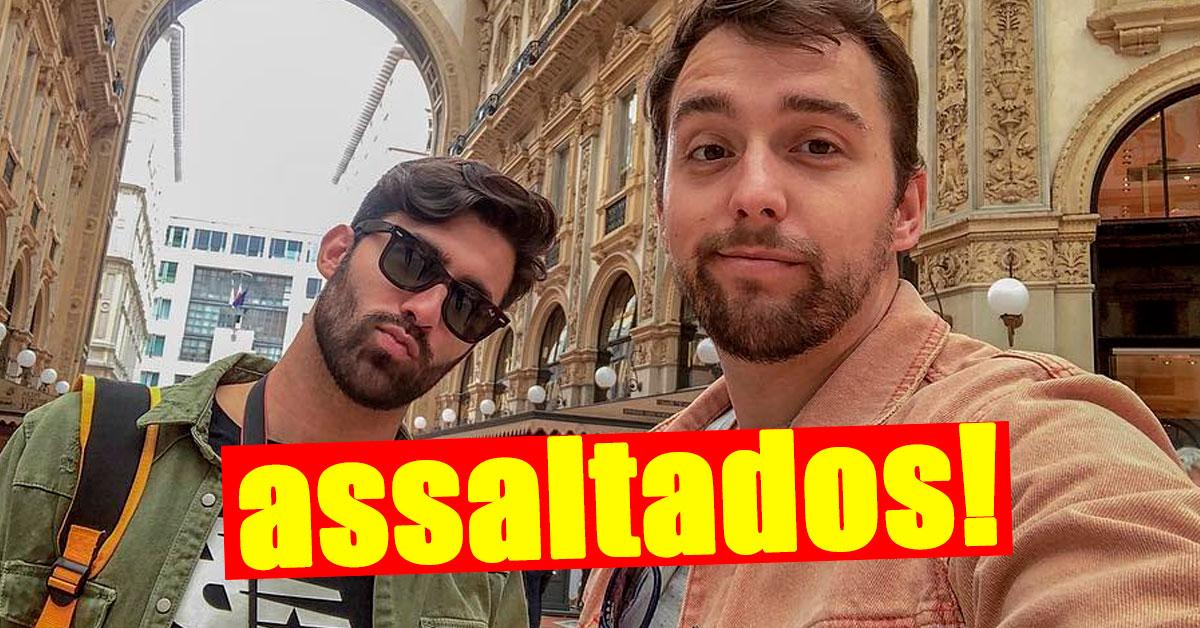 """Photo of Tiago Rufino e Luan Tiófilo ASSALTADOS! """"Já fizemos queixa na polícia"""""""