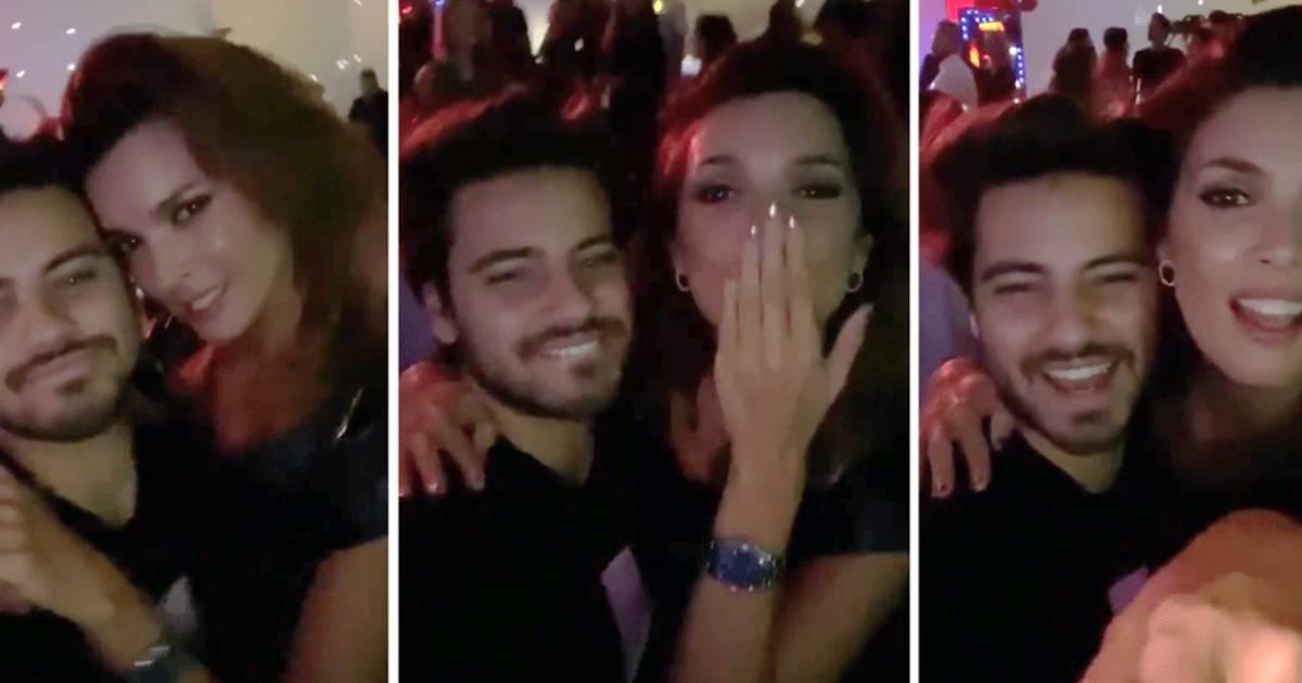 Photo of Maria Cerqueira Gomes divertida na noite e já provocou reações