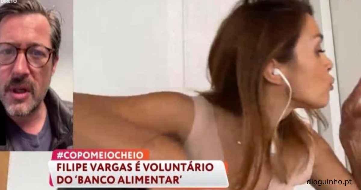 Photo of Maria Cerqueira Gomes fica atrapalhada porque filho interrompe 'Você na TV!'