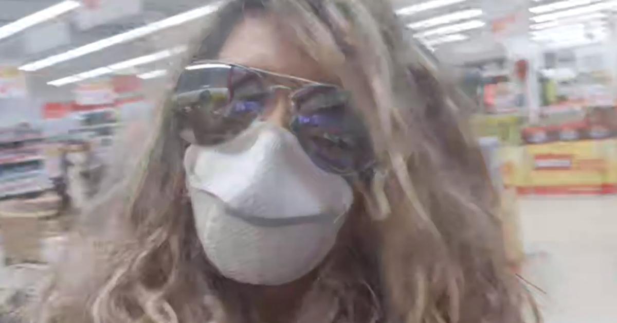 Photo of Maria Leal fez um direto durante a ida ao Supermercado