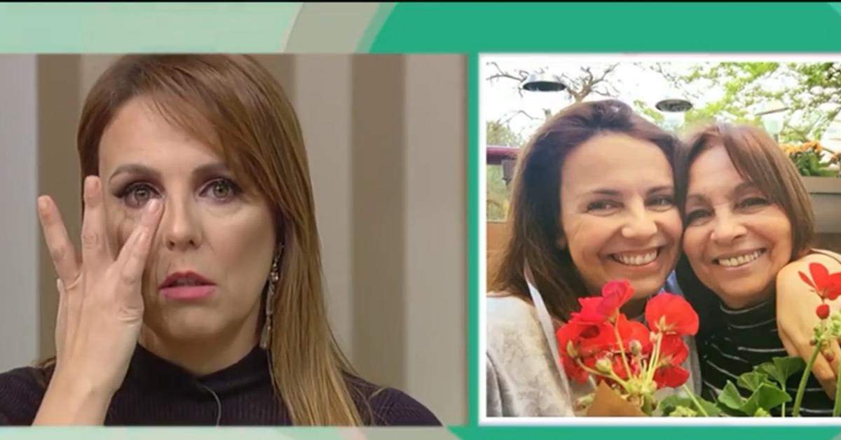 Photo of Tânia Ribas de Oliveira chora em direto com telefonema da mãe