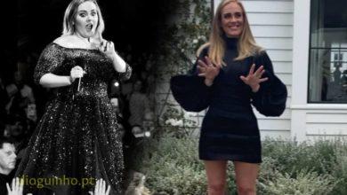 Photo of Adele irreconhecível. Loira, sem make up, e ainda menos peso