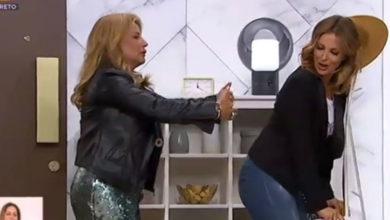 """Photo of Cristina Ferreira recebeu Alexandra Lencastre no programa com """"um toque de rabo"""""""