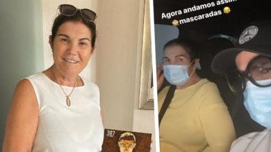 """Photo of Dolores Aveiro foi sair com a filha: """"Andamos assim… mascaradas"""""""