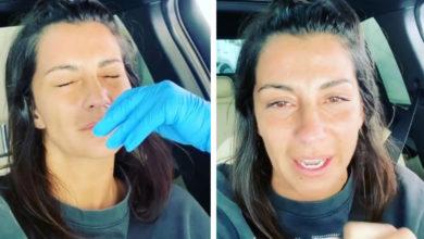 """Photo of Isabel Figueira partilha vídeo a fazer o teste à Covid-19: """"Custa um pouco"""""""
