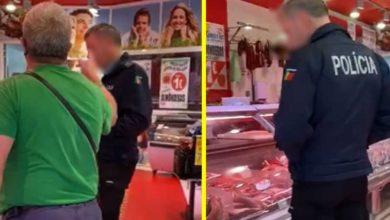 Photo of PSP foi às compras num talho SEM MÁSCARA e cliente confrontou-o