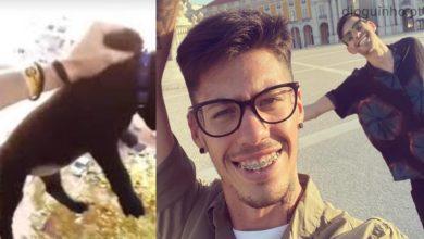 Photo of Edmar tem um amigo muito especial, e polémico!! O rapaz que ia atirando um cão pela janela