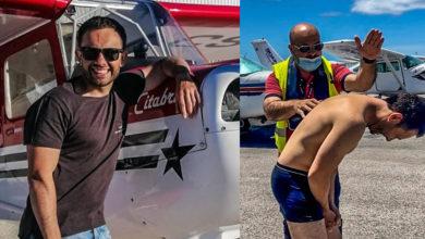 Photo of João Paulo Rodrigues pilota avião sozinho pela primeira vez