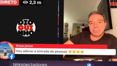 Photo of Nuno Santos da TVI em directo no Dioguinho