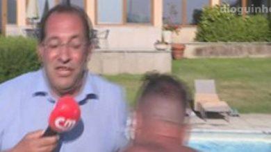 Photo of Repórter da CMTV atirado a piscina em directo