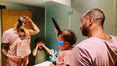 """Photo of Namorado de Rita Pereira mostra-se com os filhos: """"Mãe fora. Dia santo em casa"""""""