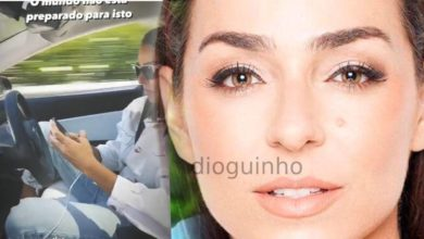 Photo of Vanessa Martins a dar péssimo exemplo. Ao telemóvel enquanto conduz