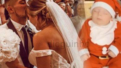 """Photo of FÃS BABADOS: Filho de Cristiana Jesus e Cláudio Alegre vestido de """"mini Pai Natal"""""""