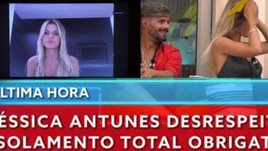 Photo of ÚLTIMA HORA: Jéssica EXCLUÍDA do Big Brother. Quebrou ISOLAMENTO com Rui Pedro